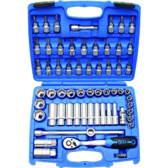 ESTUCHE 61 PCS VASOS CORTOS Y LARGOS 3/8'' HEX. ''SUPERLOCK'' (6 - 24 MM) Y VASOS C/PUNTA