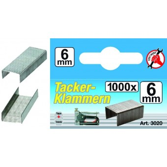 'L'/BLISTER 1000 GRAPAS DE 6 MM, KRAFTMANN